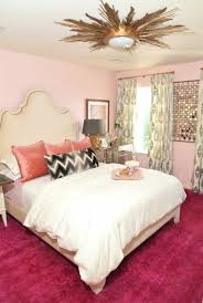 Pink And Gold Bedroom - pink gold stripes wood flushmount