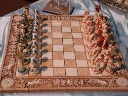ancient chess ancient greek gods sculpture by panagiwtis aneziris