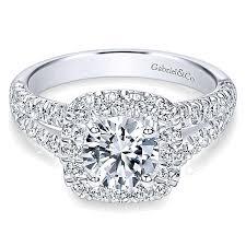round halo rings images James 14k white gold round halo diamond vault jewelers jpg