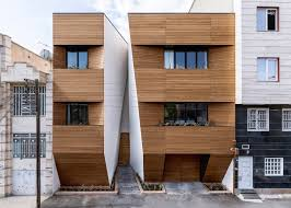 afsharian u0027s house by rena design has vertical slice in facade