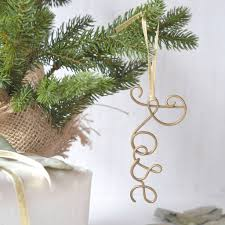 personalised wire name tree decorations by the letter loft