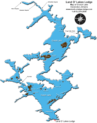 World Map With Lakes by Map Of Crotch Lake