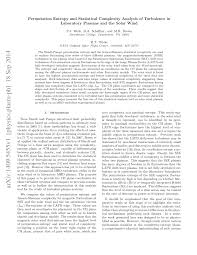permutation entropy and statistical complexity analysis of