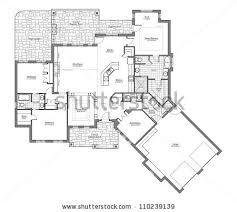 Bungalo Floor Plan Large Bungalow Floor Plan Room Names Stock Illustration 110239139