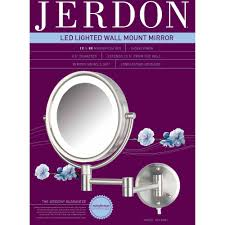 Wall Mounted Mirror With Lights Jerdon Hl88nl 8 5