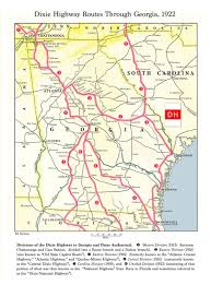 Augusta Ga Map Maps Georgia Dixie Highway Map 1922 Georgiainfo