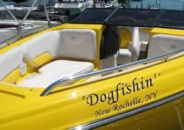 custom speed boat name u0026 port of call vinyl lettering letters
