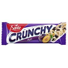 cuisine sante crunchy bar with plums and vanilla coating 40g sante export