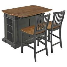 americana kitchen island with 2 stools gray home styles target