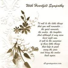 condolences card with heartfelt sympathy that you are in our thoughts
