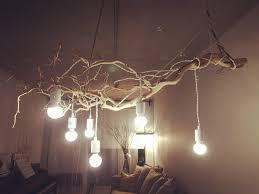 Twig Light Fixtures Dazzling Branch Light Fixture My Favourite Diy Chandelier Made By