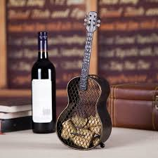 best and cheap brown tooarts guitar wine cork container practical