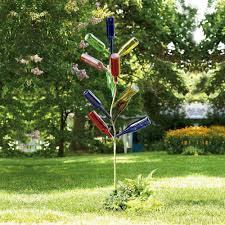 metal bottle tree sculpture yard garden outdoor