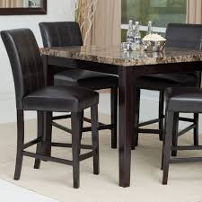 Black Bistro Table And Chairs Furniture Counter Height Table Sets For Elegant Dining Table