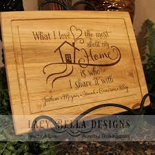cutting board engraved engraved oak cutting board with family quote and personalized names