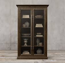 Bar Hutch Cabinet C English Brass Bar Pull Glass Double Door Cabinet