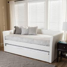 baxton studio camino modern and contemporary white faux leather