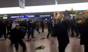 private officer breaking news riot breaks out at airport 180