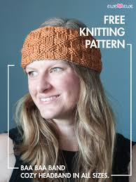 knitted headband pattern baa baa band free headband knitting pattern ewe ewe yarns