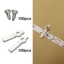smd led strip light 100pcs mounting brackets for led strip lights torchstar