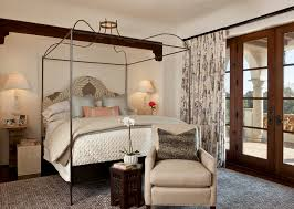 Iron Canopy Bed Iron Canopy Bed Bedroom Mediterranean With Archway Bedding