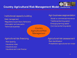 commercial risk model world bank group agricultural risk financing in low and middle