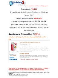100 pass braindump2go 70 410 lab manual pdf free 1 10 hyper v