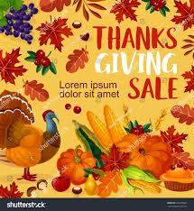 thanksgiving day sale poster seasonal autumn stock vector