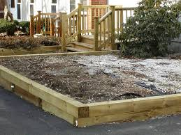 raised garden beds using landscape timbers the garden inspirations