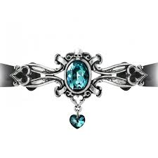 baroque scrollwork dogeressa choker with large crystal gothic