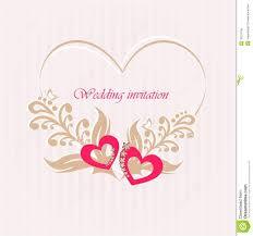 Invitation Card With Photo Wedding Invitation Card With Decorative Hearts Stock Vector