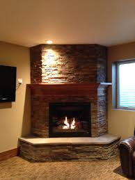 Rustic Basement Ideas by Basement Fireplace Like The Idea Of The 3 Sides To Give It A