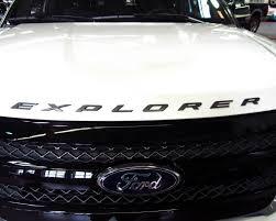 Ford Explorer Blacked Out - amazon com 8 letter set matte black finish front hood 3d letters