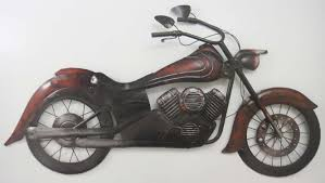 new contemporary metal wall decor classic motorbike or