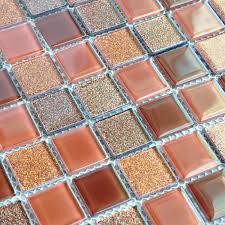 Glass Mosaic Tiles Kitchen Backsplash Design Bathroom Wall Floor - Shower backsplash