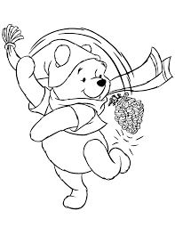 cute pooh bear winter coloring u0026 coloring pages