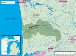 Map Lake Michigan by Pigeon River Ottawa County Michigan Wikipedia