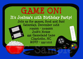 Invitation Card 7th Birthday Boy Video Games Birthday Invitation Video Game Birthday Party