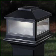 Solar Powered Deck Lights Lighting Solar Post Cap Lights 4x4 White Uk Classy Caps Imperial