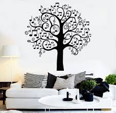 musical home decor vinyl wall decal musical tree music art decor home decoration