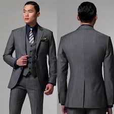 mens wedding gray tuxedos for men slim fit mens wedding tuxedo custom made