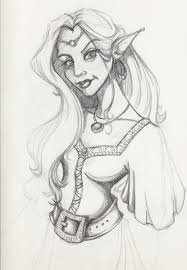 elven princess quick sketch by miraelizabeth on deviantart