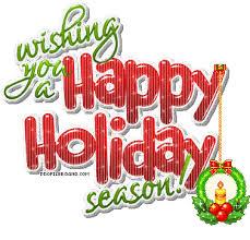 Happy Holidays Meme - saying happy holidays clipart