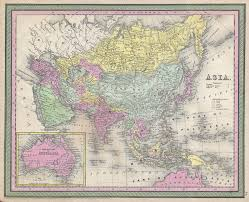 World Map Of Asia by 1853 Map Of Asia If Europe Is Considered A Separate Continent
