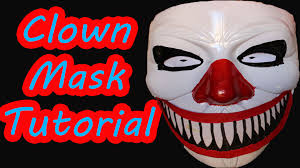Real Looking Halloween Masks How To Make The Scariest Clown Mask Ever Cheap And Easy At Home