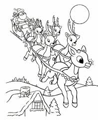 christmas santa reindeer coloring pages adults coloring
