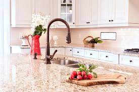 giallo ornamental light granite kitchen traditional with antiqued