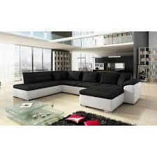 canapé d angle blanc et noir canapé d angle panoramique alia en u contemporain 6 à 7 places