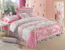 White Ruffled Comforter Pink And White Polka Dot Girls Princess Bowtie Ruffled Bedding