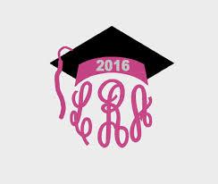 monogram graduation cap graduation cap for class of 2016 monogram toppers embroidery file